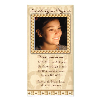 Graduation Photo Card / Announcement template