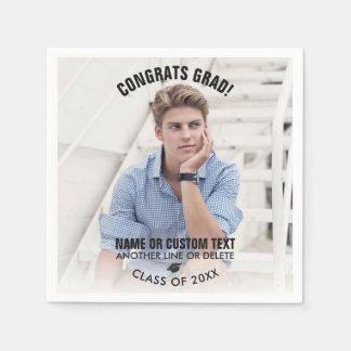 Graduation Photo Class 2018 Congrats Grad Custom Paper Napkin
