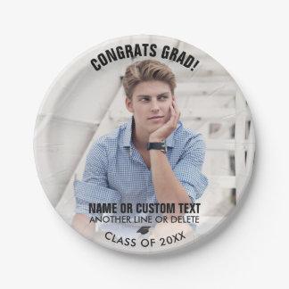 Graduation Photo Class 2018 Congrats Grad Custom Paper Plate