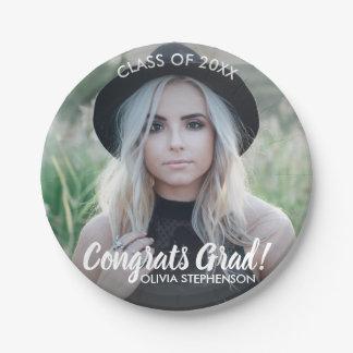 Graduation Photo Class 2018 Congratulations Custom Paper Plate