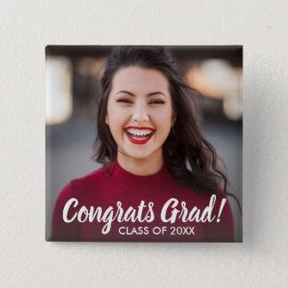 Graduation Photo Congrats Grad Class 2018 Custom 2 Inch Square Button