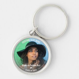 Graduation Photo Grad Cap Class of 2018 Custom Keychain