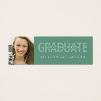 Graduation Photo Name Cards Modern Typography