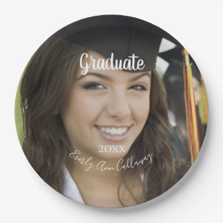 Graduation Photo Name of Graduation Year Paper Plate