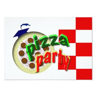"Graduation Pizza Party !!!! 5"" X 7"" Invitation Card"