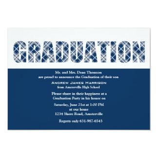 Graduation Plaid Invitation