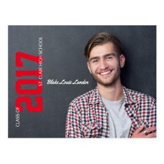 Graduation Postcard Announcement  | Red