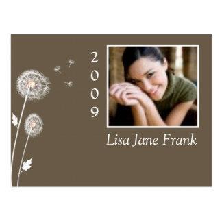 Graduation postcards, dandelions postcard
