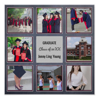 GRADUATION Poster ADD PHOTOS Wall Art Chalkboard