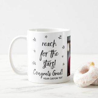 Graduation Reach For the Stars Custom Grad Photo Coffee Mug