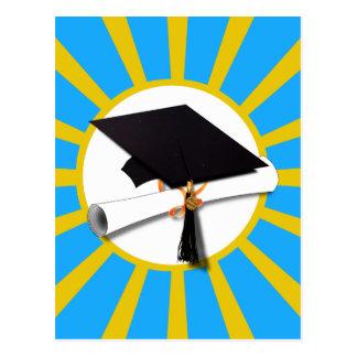 Graduation School Colors Blue And Gold (ZOOM!) Postcard