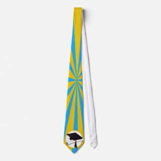 Graduation School Colors Blue And Gold (ZOOM!) Tie