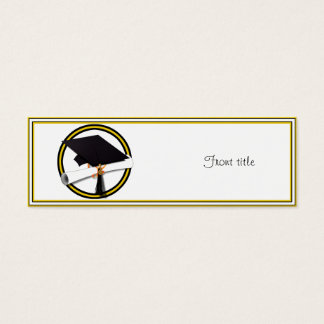 Graduation School Colors Gold And Black Mini Business Card