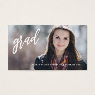 Graduation Senior Networking Full Photo Name Cards
