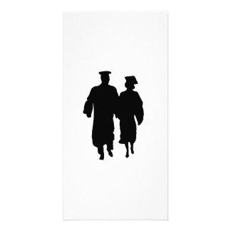 Graduation Silhouette Custom Photo Card