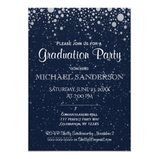 Graduation   Starry Night in Blue Card