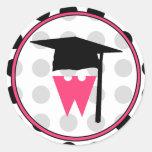 Graduation Sticker - Monogrammed polka dot sticker