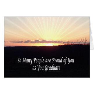 Graduation sunrise card