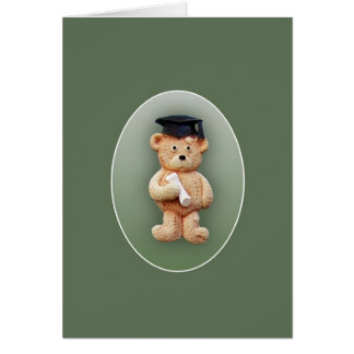 Graduation Teddy Bear Greeting Card