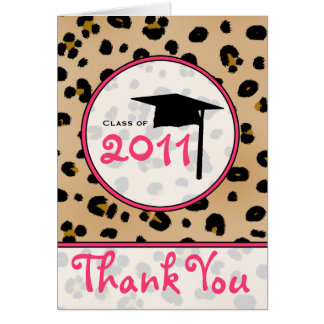 Graduation Thank You Card - Leopard