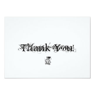 "Graduation Thank You cards with owl 5"" X 7"" Invitation Card"