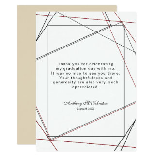 Graduation Thank you Geometric Design Card