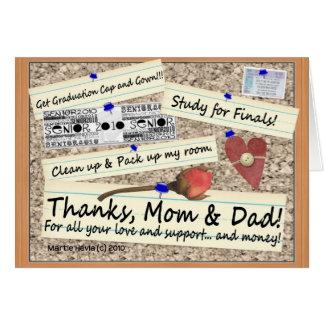 Graduation - Thanks, Mom & Dad - Card