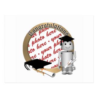 Graduation Time for Robo-x9 Photo Frame Post Card