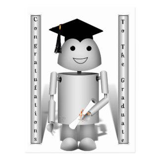 Graduation Time for Robo-x9! Postcard
