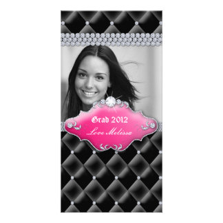 Graduation Tufted Satin Jewelry Sweet 16 Pink Picture Card