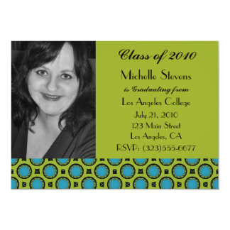 graduation turquoise green card