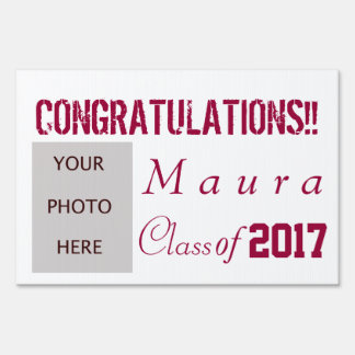 Graduation with photo sign