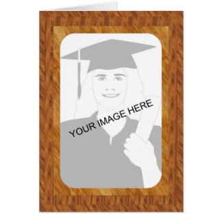 Graduation Wood Frame template Greeting Card