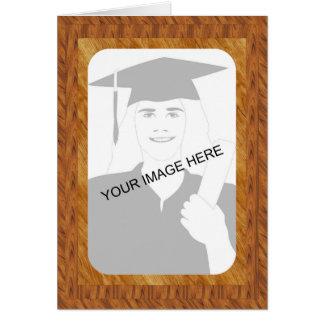 Graduation Wood Frame template Greeting Card