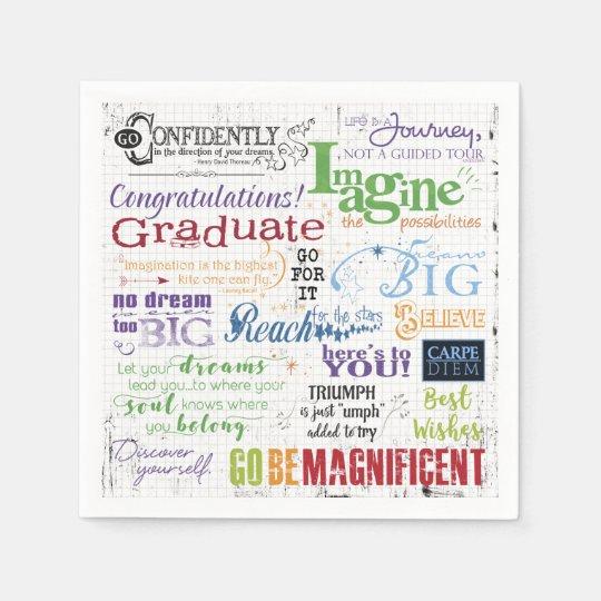 Graduation Word Art Paper Napkins