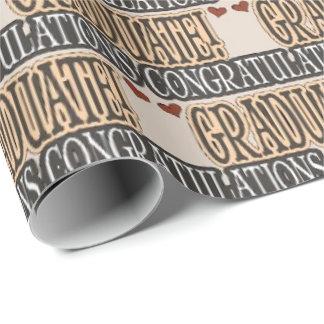 Graduation word art school wrapping paper