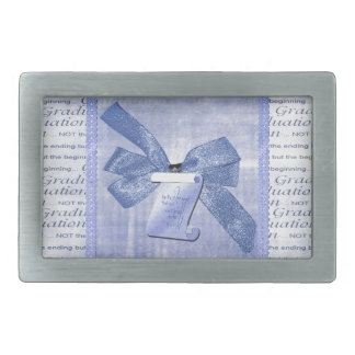 Graduation Words, Big Bow with Diploma, Blue Belt Buckle