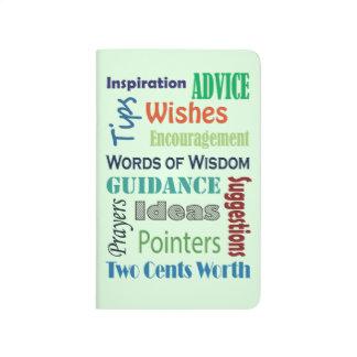 Graduation Words of Advice Wisdom Journals