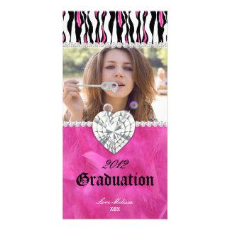 Graduation Zebra Tiger Diamond Jewel Sweet 16 Card
