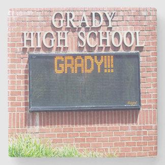 Grady High School, Atlanta Marble Stone Coaster. Stone Coaster