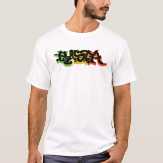 Graf Rasta Shirt with Reggae Colors and Black