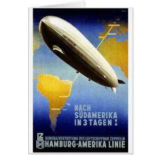 Graf Zeppelin Vintage German Travel Card