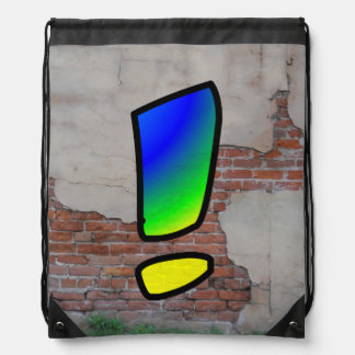 GRAFFITI #1 EXCLAMATION DRAWSTRING BAG