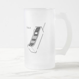 Graffiti 80s Cellphone Frosted Glass Beer Mug