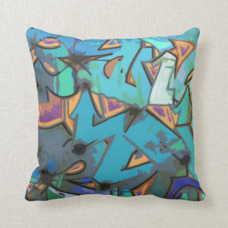 Graffiti Abstract Design Throw Pillow