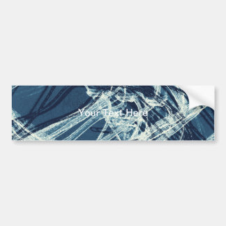 Graffiti Abstract Lines blue Bumper Sticker