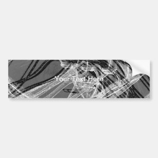 Graffiti Abstract Lines grey Bumper Stickers