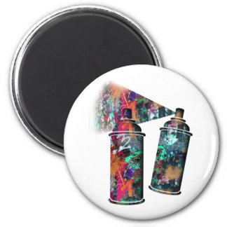 Graffiti and Paint Splatter Spray Cans Magnet