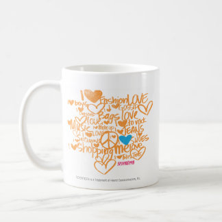 Graffiti Aqua/Orange Coffee Mug