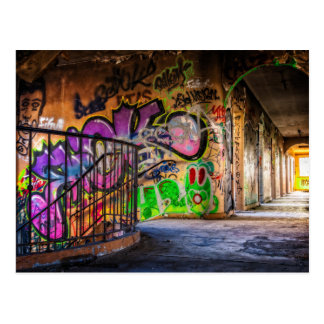 Graffiti Art Lost  Abandoned Building Postcard